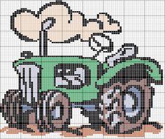 Tractor x-stitch