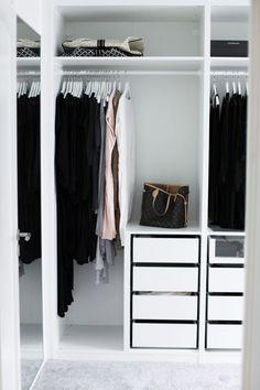 Ikea 'Pax' walk-in-closet Bedroom Wardrobe, Wardrobe Closet, Closet Bedroom, Home Bedroom, Capsule Wardrobe, Ikea Pax, Dream Closets, Home And Deco, Closet Organization