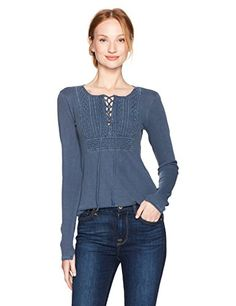 Lucky Brand Women's Lace up Bib Thermal Top, Insignia Blu... https://smile.amazon.com/dp/B071L9DVSY/ref=cm_sw_r_pi_dp_x_xa49zbHWNXX3H