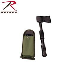 Three Piece Axe, Extends To 13 Inches, Fits Into 6 Inches Canvas Belt Pouch, Metal Handle
