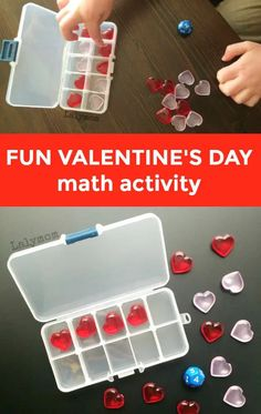 This super fun math ten frame activity is perfect for Valentine's Day. Great for preschoolers or kindergartners, this early math activity themed with hearts is great for hands-on learning. See just how easy it is to put this DIY ten frame together for Valentine's Day fun so you can have counting fun with your preschoolers or kindergarteners at home. #preschool #math #valentinesday #tenframe #counting Ten Frame Activities, Math Activities For Kids, Counting Activities, Valentines Day Activities, Valentine Day Crafts, Fun Math, Preschool Kindergarten, Preschool Learning, Preschool Ideas