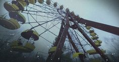 On the anniversary of the Chernobyl accident, FRONTLINE returns to the scene of the disaster for a first-of-its-kind tour of the area in virtual reality. Chernobyl 1986, Chernobyl Disaster, Chernobyl Nuclear Power Plant, Water Lighting, Soviet Union, Virtual Reality, Bing Images, Fair Grounds, Environment