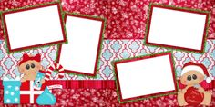Baby Christmas - Double Layout Scrapbook pages by EZscrapbooks.com We offer designs in both Physical AND digital formats. Just add photos!