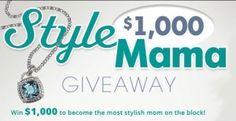 Enter the SheKnows.com Style Mama Cash Giveaway and you could win $1,000 to spend on a new wardrobe. SheKnows.com wants all Moms to get a new fashion-forward, family-friendly wardrobe.