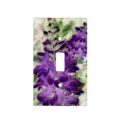 lavendar light switch cover