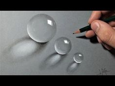 Realistic Drawings How to draw Realistic drops of water - Multiple step by step tutorial 3d Drawings, Realistic Drawings, Animal Drawings, Pencil Drawings, Drawing Animals, Painting Lessons, Painting & Drawing, Water Drawing, Water Art