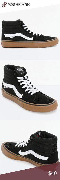 5cbdada2bf283f Vans Sk8-Hi Pro Black White Gum Skate Shoes Men s  New no