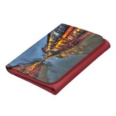 Street Reflections Leather Trifold Wallet