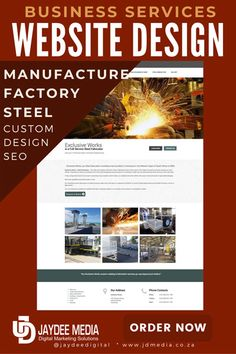 Manufacturing or Industrial Web Design + SEO Package Template Web Domain, Basic Website, Mobile Friendly Website, Seo Packages, X Picture, Responsive Web, Building A Website, How To Look Pretty, Packaging Design