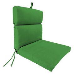 Jordan French Edge Chair Cushion - Emerald Green
