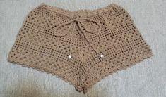 Crochet Short , White Lace Beach Shorts /Women Swimwear / Crochet Swimsuit - Beach Cover Up /// senoaccessory Crochet Shorts Pattern, Crochet Pants, Crochet Clothes, Crochet Lace, Crochet Stitches, Crochet Bikini, Crochet Bathing Suits, White Lace Shorts, Crochet Cover Up