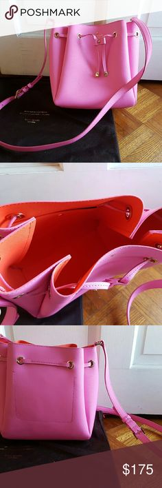 Kate Spade Bucket Crossbody Very good condition.  Used only once.  Orange interior. kate spade Bags Crossbody Bags
