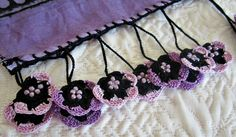 Turkish Traditional Woman's Scarf with crochet by ReddApple
