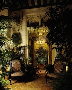 Chateau Gabriel in Normandy,Yves Staint Laurent & Pierre Berge, Winter Garden garden architecture Famous folk at home: Yves Saint Laurent and Pierre Berge West Indies Style, British West Indies, Beautiful Interiors, Beautiful Homes, Interior Tropical, Yves Saint Laurent, Saint Yves, British Colonial Decor, Interior And Exterior