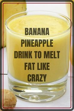 Banana Pineapple Drink to Melt Fat Like Crazy - Healthy Food House Weight Loss Drinks, Weight Loss Smoothies, Healthy Smoothies, Healthy Drinks, Smoothie Recipes, Detox Smoothies, Milkshake Recipes, Healthy Recipes, Smoothie Diet