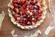 Strawberry Rhubarb Crumble Pie by joy the baker
