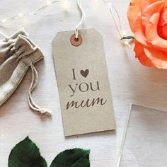 I Love You Mum Stamp  I Love You Mom Stamp  Mother's Day