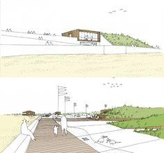 La Dune habitée, construction de deux bases nautiques et un local commercial à Saint-Hilaire-de-Riez, THEarchitectes, 2012