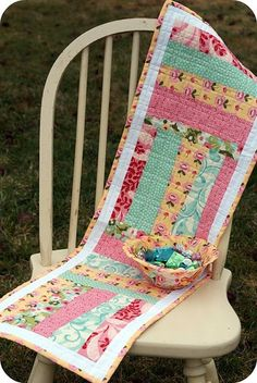 """""""Easy Peasy Table Runner"""" (from Rachel Griffith/PS I Quilt)."""