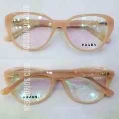 9af1430b32bc6 Armação Oculos Grau Prada Acetato Lançamento Sedex Gratis - R  119