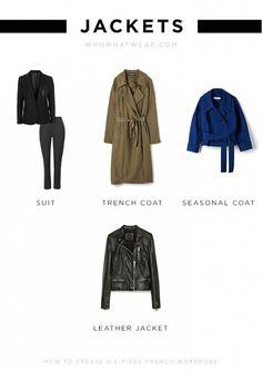 5 piece french wardrobe