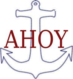Ahoy Anchor clip art