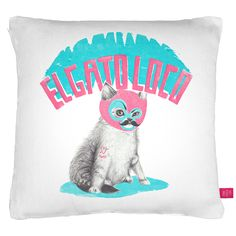 Ohh Deer Crazy Cat Pillow Cover. $42