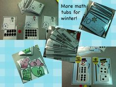 Kindergarten Lifestyle: Winter Math Tubs