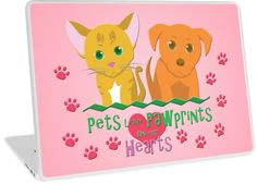 Pets Leave Pawprints Laptop Skins #dogs #cats #puppies #kittens #pets