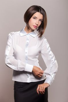 White Blouses, Silk Blouses, White Shirts, Sexy Blouse, Blouse And Skirt, Blouse Dress, Suits For Women, Blouses For Women, Women Wear