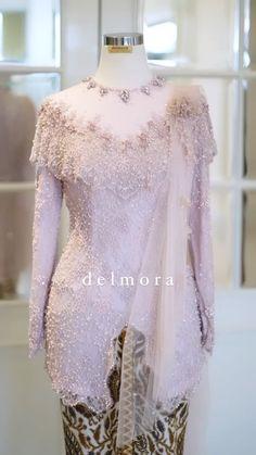 Dress Brokat Modern, Kebaya Modern Dress, Blouse Batik, Batik Dress, Kebaya Pink, Model Dress Kebaya, Model Kebaya Modern, Kebaya Brokat, Hijab Evening Dress