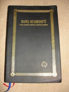 Bible in Nias Language / Today's Nias Version / BUKU NI'AMONI' O TURIA SOMUSO DoDo BA GINoTo SI BOHOU / The Nias language is an Austronesian language spoken on Nias Island and the Batu Islands off the west coast of Sumatra in Indonesia