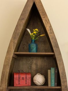 We love this custom bookcase made by Jason Cameron!