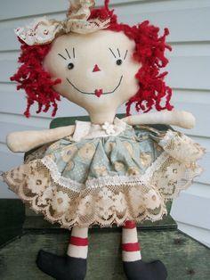 Primitive Raggedy Ann Doll Shelf Sitter