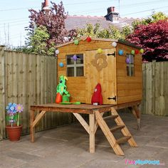Bluebell Tower Playhouse Home Essence Kids Wooden Playhouse, Playhouse With Slide, Playhouse Outdoor, Playhouse Ideas, Tongue And Groove Cladding, Wendy House, Garden Buildings, Picnic Table, Play Houses