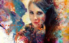 Buy deep look, a Acrylic on Canvas by yossi kotler from Israel. It portrays: People, relevant to: people, portrait, mix media, yossi kotler art, acrylic painting, digital, faces When I am walking around outside in the nature, by investigating my path and my creativity, there is suddenly a spark that catches my eyes, that I can reflect to its shapes, texture, and to its colors. And this starts a creative process in me. Then I will search for a female figure with a unique look with some of…