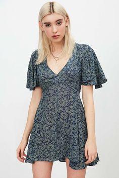 Kimchi Blue Kimona Lisa Navy Dress