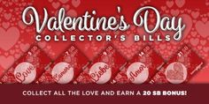 Swagbucks Valentine's Day Collector's Bills