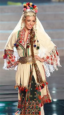 Zhana Yaneva shows off the national costume for Bulgaria at the 2012 Miss Universe pageant.