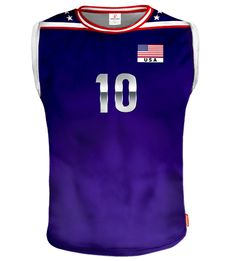 USA Sleeveless Volleyball Jersey With Custom Name and Number Usa Volleyball Team, Sports, Number, Tops, Unitards, Hs Sports, Sport