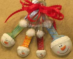 Measuring Spoon Snowman Ornament