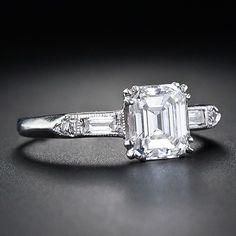 Emerald-Cut Diamond Ring