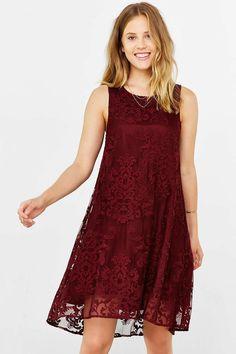 BB Dakota Cadence Lace Swing Dress - Urban Outfitters