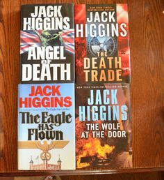 4 large Jack Higgins hardcovers $5 for all