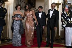 Michelle Obama's Hair Is Laid To Perfection For Her Final State Dinner from essence.com
