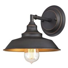 Wall Sconce 1 Light Fixture Vanity Lighting Oil Rubbed Bronze Rustic 60W Decor #Westinghouse