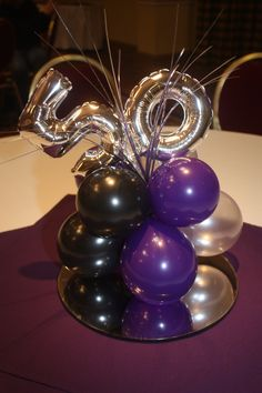 Resultado de imagen para balloon topiary centerpieces for men Moms 50th Birthday, 50th Party, 40th Birthday Parties, Birthday Balloons, Birthday Memes, Birthday Nails, Birthday Ideas, Topiary Centerpieces, Balloon Centerpieces