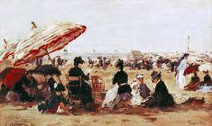 Eugène Boudin - La Plage (1894)