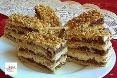 Orosz krémes, régóta kerestem ezt a receptet! Örülök, hogy megtaláltam! Hungarian Desserts, Hungarian Cake, Hungarian Recipes, Sweet Recipes, Cake Recipes, Dessert Recipes, Torte Cake, Winter Food, No Bake Desserts