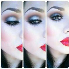 Glamourous glittery eyes